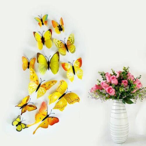 3D Schmetterlinge 12er Dekoration Wandtattoo Wandsticker Wanddeko große Auswahl