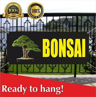 Full Color BONSAI Banner Sign NEW Larger Size Best Quality for the $ Tree in pot
