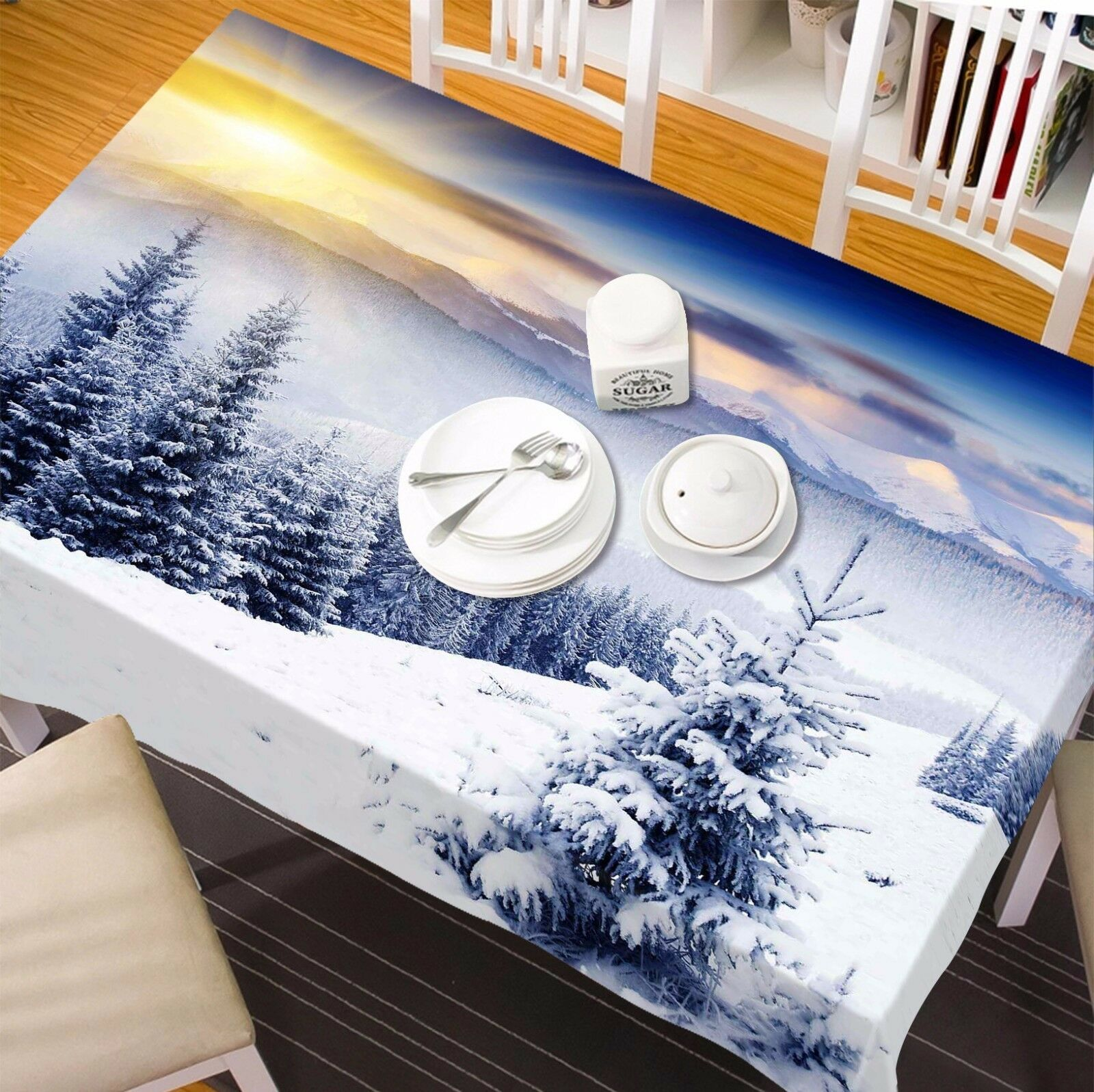 3D Tree Snow9 Tablecloth Table Cover Cloth Birthday Party Event AJ WALLPAPER AU