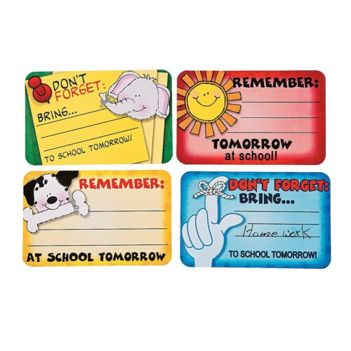 """Don't Forget Stickers 100 Stickers 3 1//2/"""" x 2 1//4/"""" Classroom Supplies Approx"""
