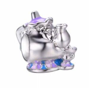 Silver-Disney-Mrs-Potts-Tea-Pot-Beauty-amp-the-Beast-Charm-European-Bracelet
