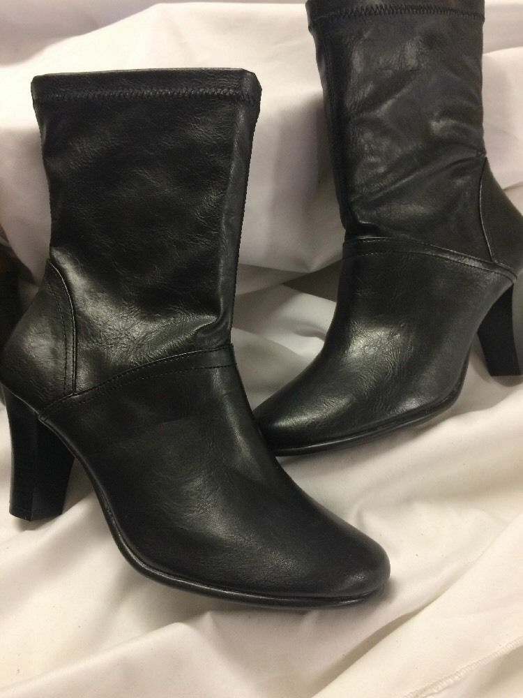 Aerosoles Women's 'Do Gooder' Faux Leather Boots Black Size 11 Round toe.UK 9