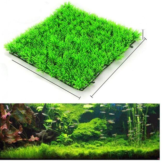 Aquarium Plastic Artificial Grass Underwater Plant Landscape Colorful 2 Pcs For Sale Online Ebay