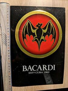 Plaque en métal publicitaire - Metal Plate - Bacardi - 20x30