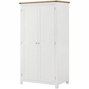 Image Is Loading Padstow White Painted Wardrobe Oak Amp Pine