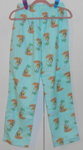 MEN/'S OLD NAVY TROPICAL SANTA FLANNEL PAJAMA PANTS SIZE SMALL