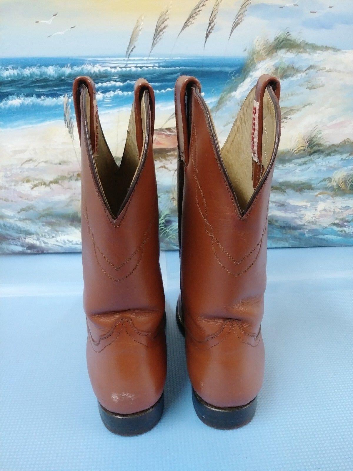 RUDEL WESTERN WESTERN RUDEL LEATHER SOLES BOOT BROWN  Größe 8      24 895934