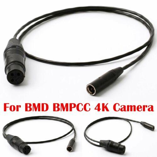 Mini cable de audio XLR a estándar para cámara de bolsillo BMD BMPCC 4K Blackmagic Negro