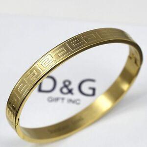 DG 65 Gold Stainless Steel6mm Design Bangle Open Side