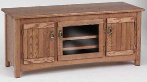 #978 Solid Wood Oak Mission TV Stand
