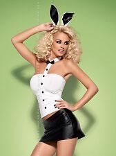 Bunny Outfit Kostüm 5 Teilig S-M Gogo Dessous Mottoparty Dress Club Häschen Ou