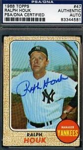 Ralph-Houk-Signed-1968-Topps-Psa-dna-Certed-Autograph-Authentic