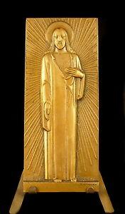 Medaglia-Religiosa-il-Cuore-Del-Cristo-95-mm-Vezien-Gesu-C-1940-Religious-Medal