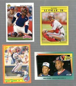 EARLY-039-90-039-S-MLB-PLAYER-SANDY-ALOMAR-Jr-LOT-OF-4-CARDS-MINT