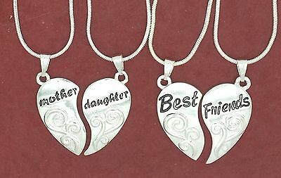 Share Necklaces Mother Daughter or Best Friends options Pendants and Chains BFF