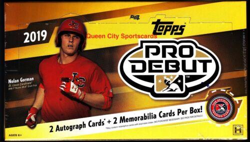 2019 Topps Pro Debut Baseball Factory Sealed Hobby Box