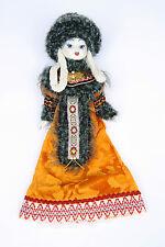 Beautiful Porcelain Doll - Blue Eyes Ceramic Head Hands Feet Fine Clothes Detail