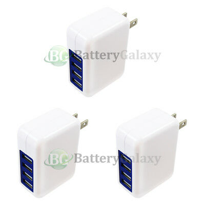 3X Fast 4 Port Wall Charger 3.1 Amp for Samsung Galaxy Tab Note A E S S2 S3