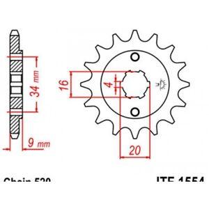 Pignon-acier-13-dents-jt-chaine-520-yamaha-yfs200-bla-Jt-sprockets-JTF1554-13