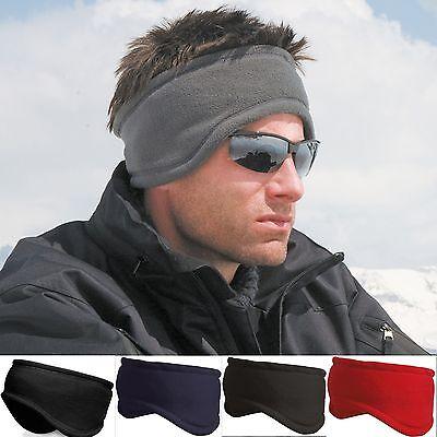 Mens / Ladies Fleece Headband Skiing Snowboard Ear Warmer Hat - Ski Wear Unisex