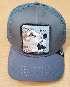 67a781cd65f Goorin Animal Farm Trucker Snapback Hat Cap Grey Gray Female Dog ...