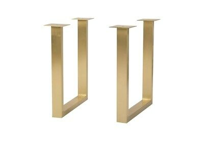 28 T Set Of 2 Table Base U Legs Dining Table Height Brushed Brass 1155 Ebay