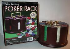 CARDINAL DELUXE REVOLVING POKER RACK CAROUSEL W/CHIPS/CARDS/DEALER BUTTON IN BOX