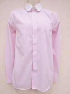 Next-Mens-Pale-Pink-Mix-Long-Sleeved-Shirt-size-15-5-034-Slimfit