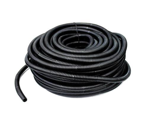 "200 FT 3//8/"" Black Split Wire Loom Polyethylene Cabel Tubing"