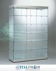 Image Is Loading Showcase Big Glass Cabinet Display With Lights H200x143x53