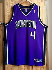 Authentic Chris Webber Reebok Sacramento Kings Jersey Trikot 48 XL NBA MINT