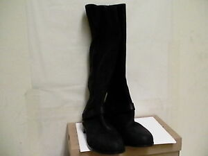 Cuir Taille Bottes Femmes 7 Channing Ugg Équitation Noir Galets vqnPXSnw