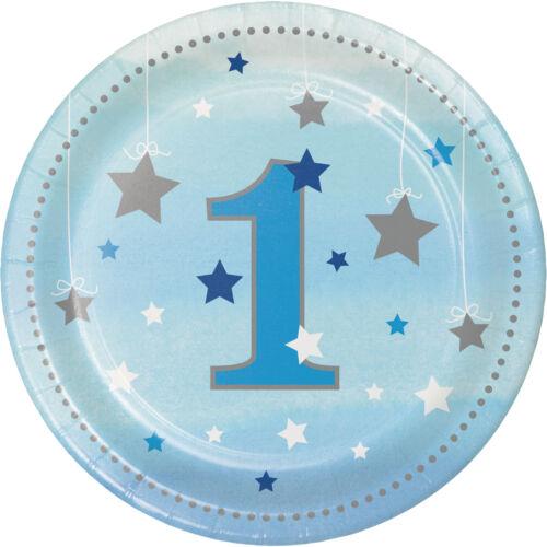 1st Birthday Boys Twinkle Twinkle Little Star Tableware Decorations Balloons