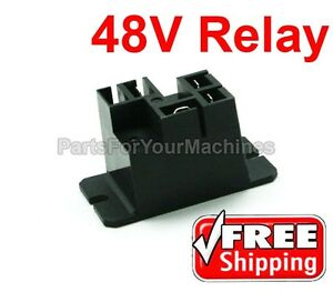 BATTERY CHARGER RELAY, 30A, 48V,POTTER & BRUMFIELD, CLUB CAR, POWERDRIVE CHARGER