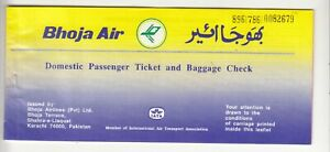 1996-PAKISTAN-BHOJA-AIRLINES-PASSENGER-TICKET-AND-BAGGAGE-CHECK