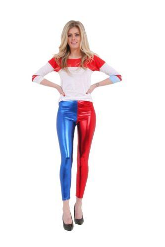 Womens Wet Look Ladies METALLIC LEGGINGS Foil SHINY Plus Size Girls 8-26 3-13Yrs