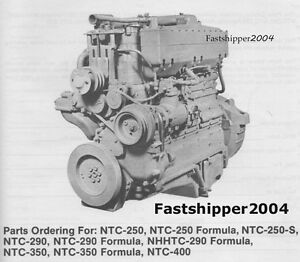 Details about Cummins Diesel Engines Parts Catalog NTC FFC 250 S NHHTC 290  270 350 400 Manual