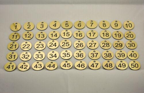Table Locker Tags 50x3cm Custom Laser Engraved Number Discs Pub Clubs