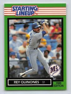 1989  REY QUINONES - Kenner Starting Lineup Card - SEATTLE MARINERS - Vintage