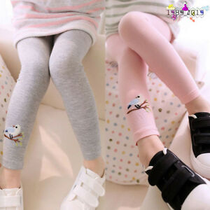 Toddler-Baby-Girls-Skinny-Pencil-Pants-Kids-Embroidery-Bird-Stretchy-Leggings