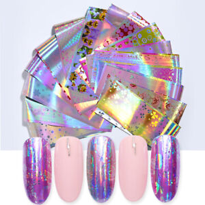 7976bab6d9 Details about 16Pcs/Lot Nail Foils Mixed Flower Patterns Holographic  Transfer Stickers Decals