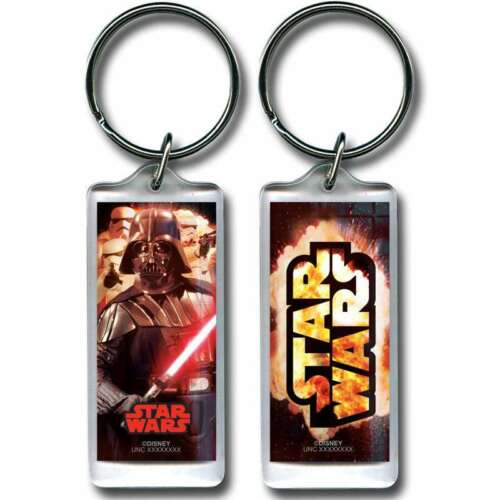 Disney Star Wars Explosion Darth Vader Lucite Keychain Keyring