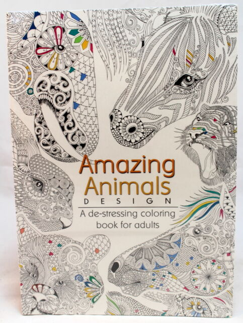 Oceanis Adult And Teen Coloring Book Animals Theme Ebay
