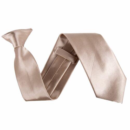 """Pré attaché clip sur 3/"""" de large satin sécurité cravate-costume de sécurité-champagne gold"""