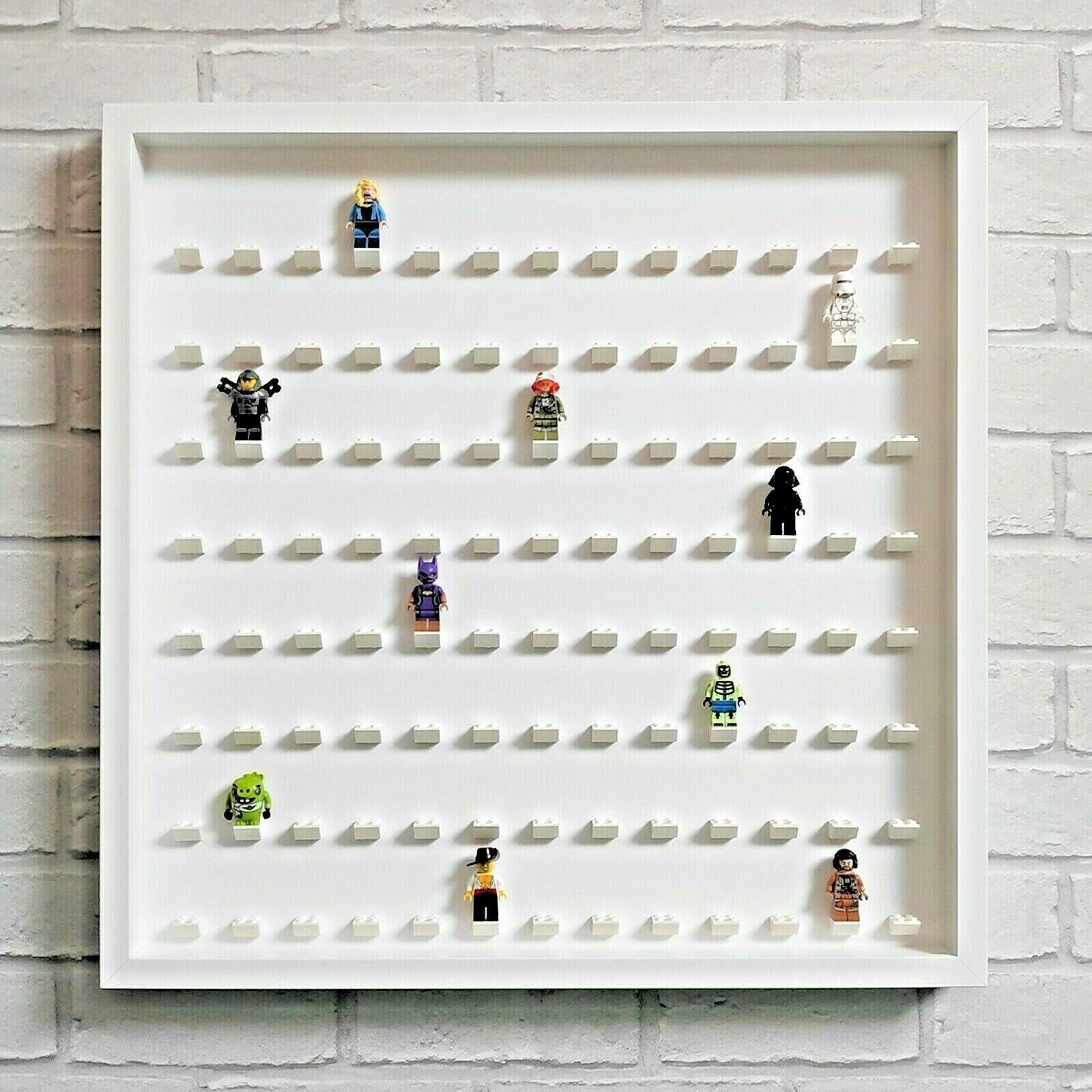 LEGO Figurine Display Frame Case Large-s' adapte 104 Minifigs-Blanc (Blanc)