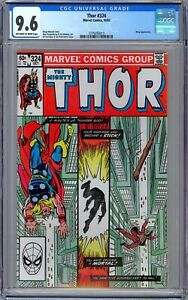 Thor #324 CGC 9.6 (Oct 1982, Marvel). Wasp Appearance.   Ed Hannigan Cover.