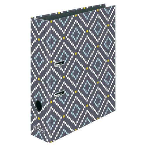 """80mm breit DIN A4 Herlitz Motivordner /""""Rhombus/"""""""