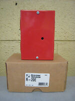 System Sensor R-20e Fire Alarm Single Dpdt Relay W/ Activation Led Red
