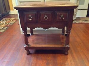 Authentic-Antique-Side-Table-C-B-Atkin-Company-Knoxville-Tenn-Early-1900-039-s
