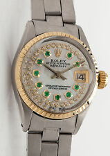 Estate $7000 18k Yellow Gold SS Genuine ROLEX OYSTER Ladies DATEJUST Watch & BOX